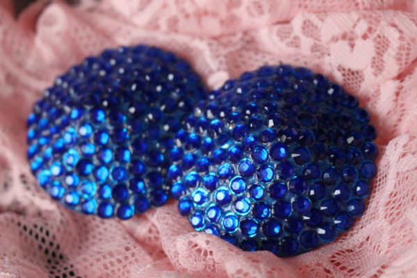 Royal Blue Rhinestone Pasties