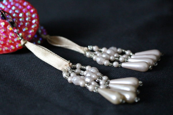 Champagne Pearl Beaded Tassels