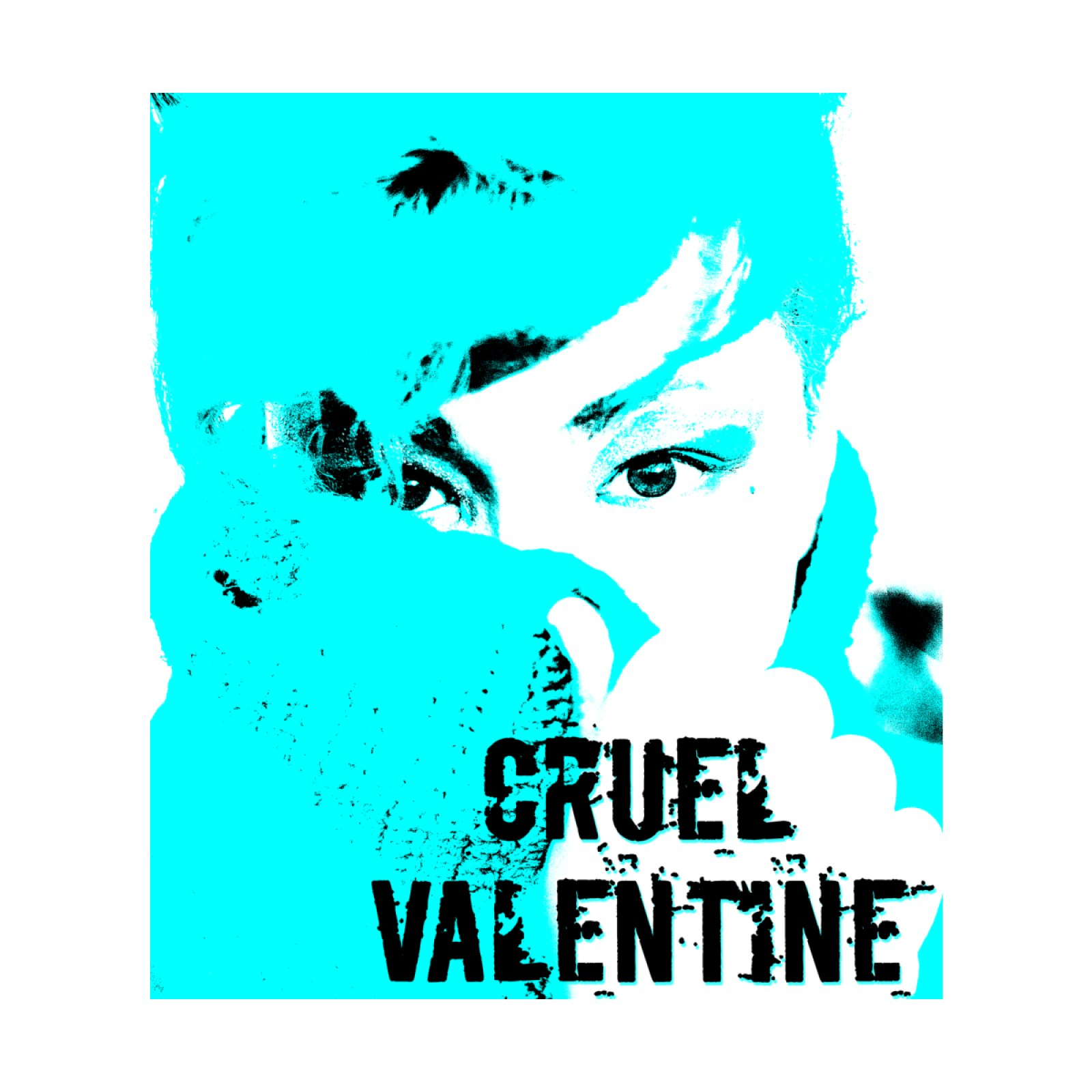 Cruel Valentine Forget Me Not in Blue - Available on Shirts and More