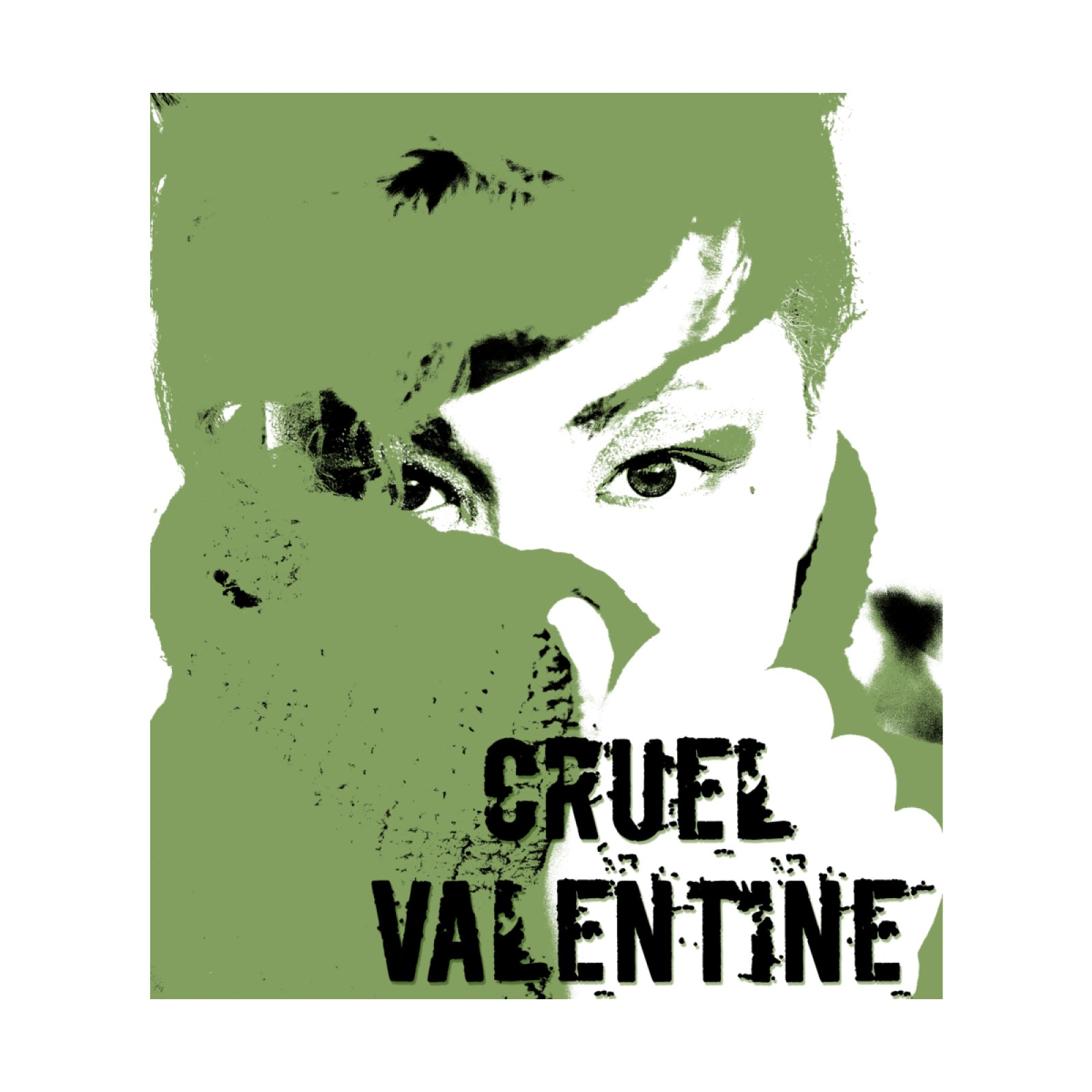 Cruel Valentine Forget Me Not in Green - Available on Shirts and More