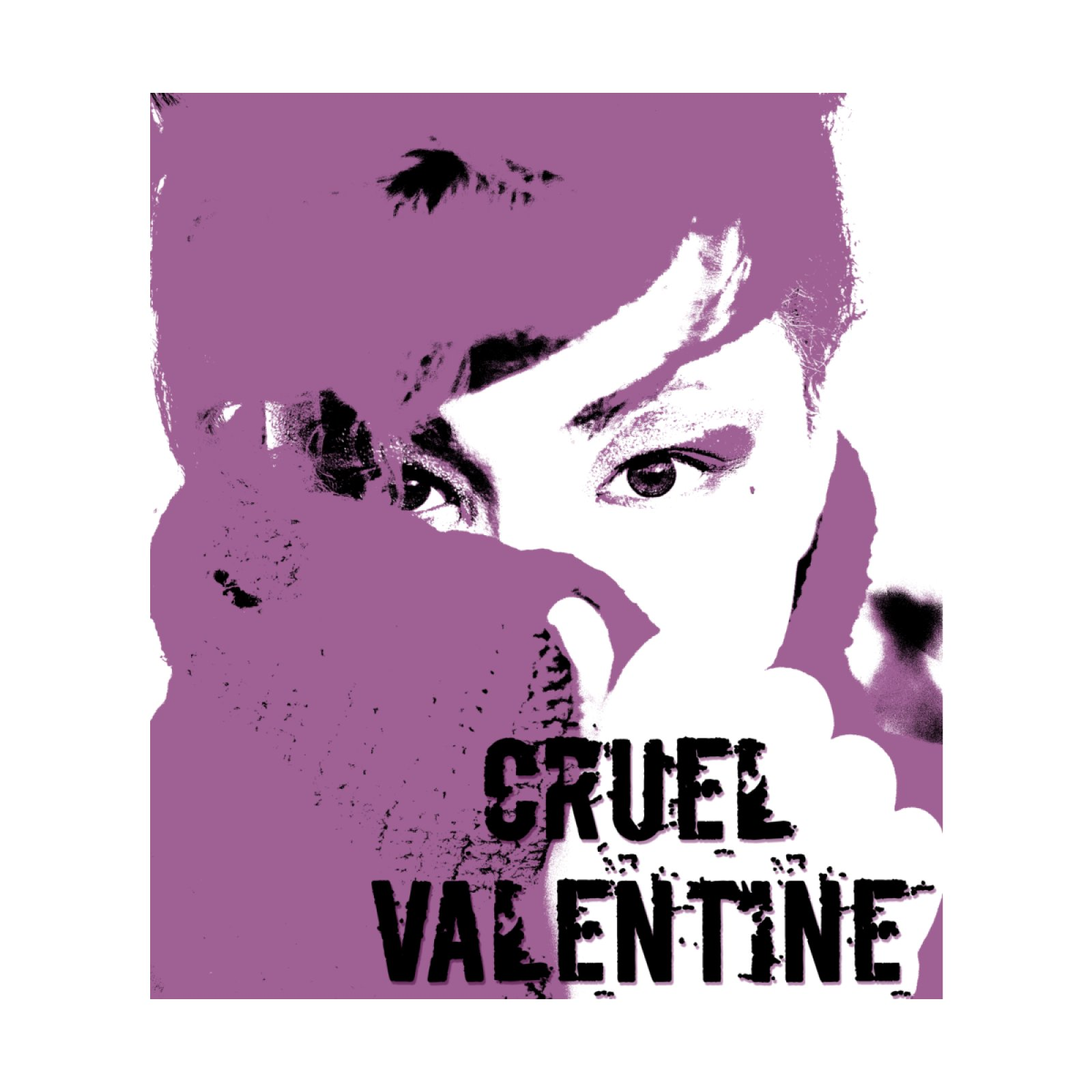 Cruel Valentine Forget Me Not in Purple - Available on Shirts and More