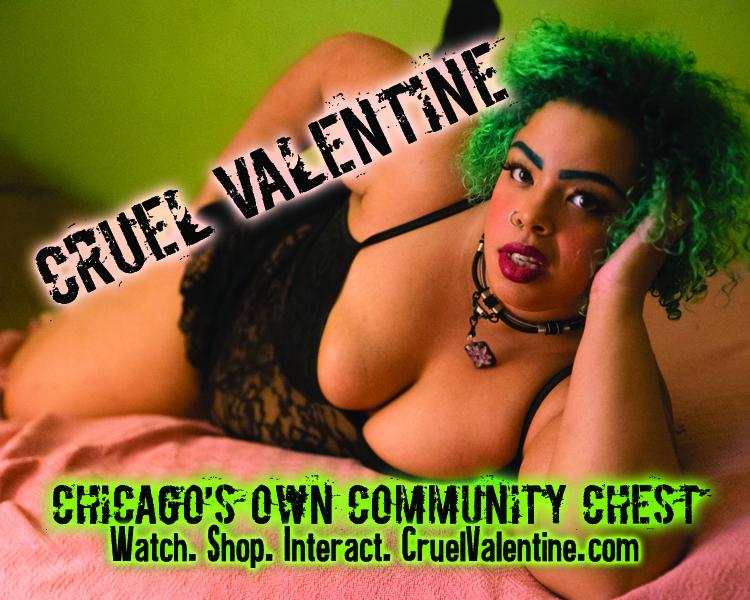 Cruel Valentine 2.5x2 Sticker